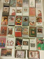 Christmas cassette tape lot of 33. Includes Alan Jackson, Disney, Vince Gill,etc
