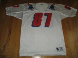 Vintage Champion BEN COATES No. 87 NEW ENGLAND PATRIOTS (Size 44) Jersey WHITE
