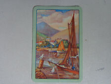 BLANK BACK  , OLD VINTAGE BOATS  ,SINGLE  SWAP  CARD ..