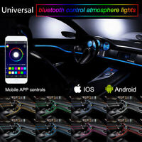 RGB LED Auto Neon EL Lichtleiste Innenraum Ambientebeleuchtung Lampe APP Control