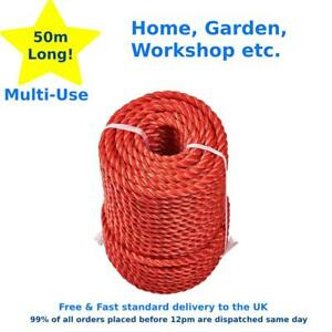 10mm Thick Rope Twisted Braided Garden Decking Decoration Craft 50M