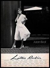 1982 Lillie Rubin Store Adam Beall Fashion Designer Dress Vintage PRINT AD B&W