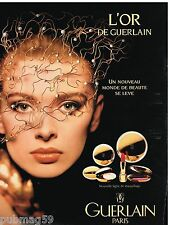 Publicité Advertising 1992 Cosmétique maquillage L'Or de Guerlain