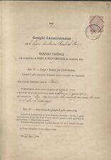 CARABINIERI REALI LEGIONE BARI 1877 CAPITOLI PROVVISTA GUANTI PELLE CAMOSCIATA