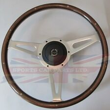 "New 14"" Laminated Wood Steering Wheel & Hub Adaptor Sunbeam Alpine Tiger"