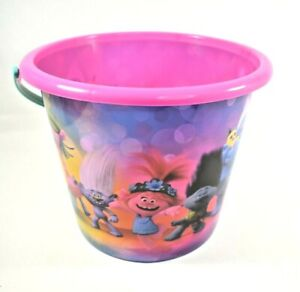 Dreamworks Trolls - Trolls World Tour Jumbo Plastic Bucket (Sand Beach Toys) New