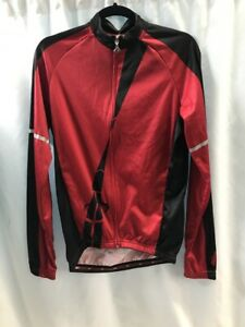 Hincapie Performer Long Sleeve Jersey, Men's Size Small, RED, New