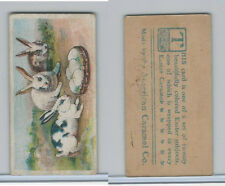 E45 American Caramel, Easter Subjects, 1920's, Three Bunnies Bowl Of Eggs