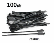 """100-PACK 8"""" Nylon Zip Marker Tab Cable Ties/ Cord Organizer, CT-0208"""