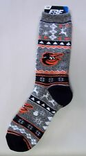 Baltimore Orioles Men's Socks Large Size 10 to 13 Holiday Christmas