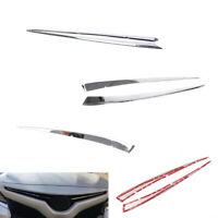 Chrome Front Bumper Grill Grille Cover Trim Molding For Toyota Camry 18-20