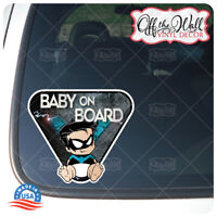 """Baby Nightwing""""Baby On Board"""" Sign Vinyl Decal Sticker for Cars/Trucks"""