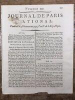 Rarissime Marie Antoinette Procès du Roi Louis 16 1792 Louis Capet Prison Temple