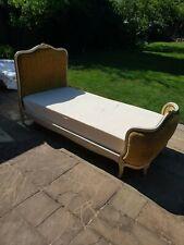 Vintage single bed, frame, base and mattress
