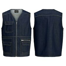 Jack & Jones Mens Denim Gilet Sleeveless Vest Casual Jeans Jacket Waistcoat