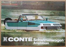 1980 Conte Schwimmwagen Amphibian original sales brochure