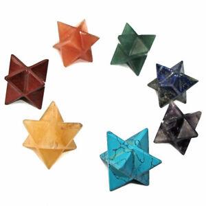 Merkaba Merkabah Gemstone Crystal Star Energy Vehicle of Divine Light 20mm