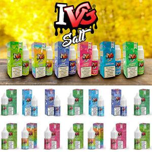 5x IVG SALT All Flavours 20MG 10ml Nic Salt E Liquid vape juice Bubblegum