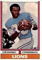 1974 Topps #525 Lem Barney HOF Detroit Lions / Jackson State