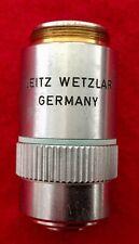 Vtg Leitz Wetzlar NPL 20 x / 0.40 Microscope Objective Made in Germany