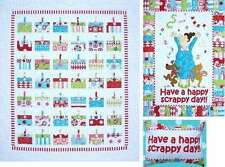 HAVE A HAPPY SCRAPPY DAY QUILTING PATTERN, Applique From Amy Bradley Designs