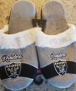 Las Vegas Raiders Women's Color Block Slide Slippers Small to X-Large