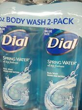 DIAL SPRING WATER BODY WASH W/ MOISTURIZER BOTTLES ( 70 TOTAL OUNCES ) USA MADE