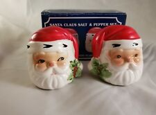 SANTA CLAUS SALT & PEPPER SHAKERS SET Christmas Salt & Pepper Shakers NEW !!