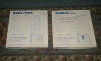 """VINTAGE REALISTIC RADIO SHACK 5"""" INCH REEL TO REEL TAPES IN BOX CAT NO 44-278A"""