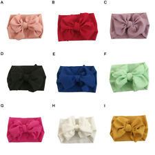 BL_ Baby Girl Bunny Rabbit Bowknot Turban Nylon Headband Elastic Hair Band Headw