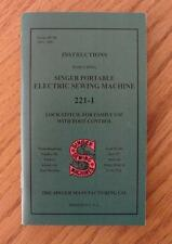 Singer 221-1 Featherweight Sewing Machine Instruction Manual