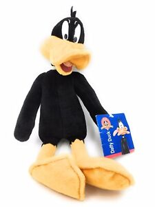 """Looney Tunes Daffy Duck 15"""" Soft Plush Toy Play by Play 2000 With Tag"""