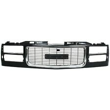 Grille Assembly For 94-98 GMC C1500 94-2000 K2500 w/ dual headlight holes