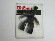 Wilson Single Density Lip & Mouth Guard w/ Strap - Black - WTFMG1852