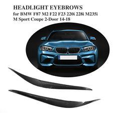 Carbon Fiber Headlight Eyelids for BMW F87 M2 F22 F23 M Sport Coupe 2-Door 14-18