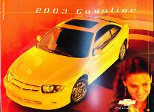 2003 Chevrolet Cavalier and Z24 24-page Canada Car Sales Brochure Catalog