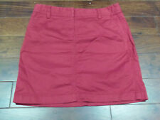 ANN TAYLOR LOFT Red Cotton Casual Skirt Knee Length Size 0P Bright Spring Wear