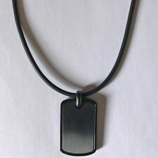 Fossil Herren Halskette Dog Tag Schwarz Gummi Necklace Men JOF00534001