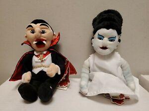 Universal Studios Monsters Dracula/Bride of Frankenstein Stuffins Plush W/ TAGS