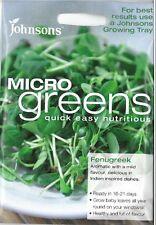 Johnsons Seeds Microgreens Fenugreek Seed