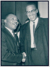 Refrigerator Magnet- 2 1/2 X 3  inches- Martin Luther King and Malcolm X