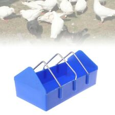 Pigeon Feeder Food  Water Feeding Birds Parrots Hanging Cage Rectangle Supplies