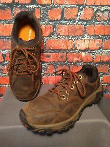 EUC men's MERRELL / ESPRESSO leather hiking style shoes - size 8 1/2