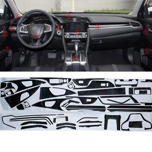 5D Carbon Fiber For Honda Civic 2016-2018 Interior Sticker Wrap Decal Trim Vinyl