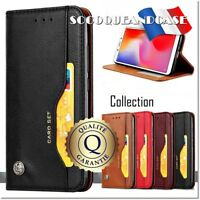 Etui coque housse Cuir Premium Leather Case Cover Huawei & Honor (All models)