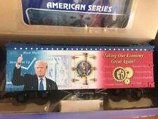 """USA TRAINS R16031 """"Making Our Economy Great Again"""" Donald Trump Reefer"""