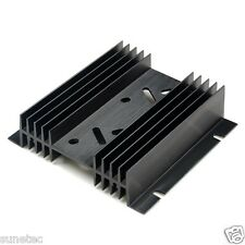 SS442 TO-3 holes x2 Aluminum Black Heatsink Heat Sink Audio Amplifier