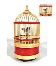 Singing Bird in Cage Wind Up Music Box Original Retro Remake Disney Inspired