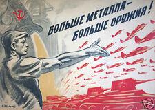 """USSR Communist Russia World War 2 Poster Nikolai Avvakumov, 5.5x4"""" reprint"""