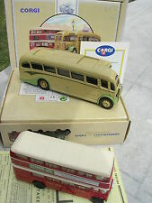 "CORGI  COFFRET AUTOCAR  1/50 AEC Regal Coach et 1/64 AEC Bus ""DEVON BUS"""
